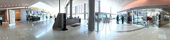 panoramic image of hospital lobby