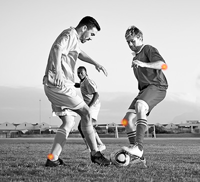 soccer players with joint pain