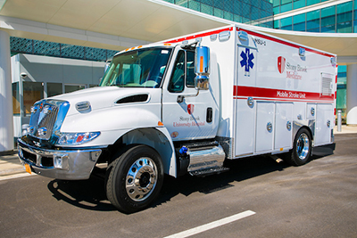 Mobile Stroke Unit outside SBUH