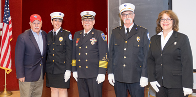 newly installed officers for the Suffolk County Firefighters Burn Center Fund