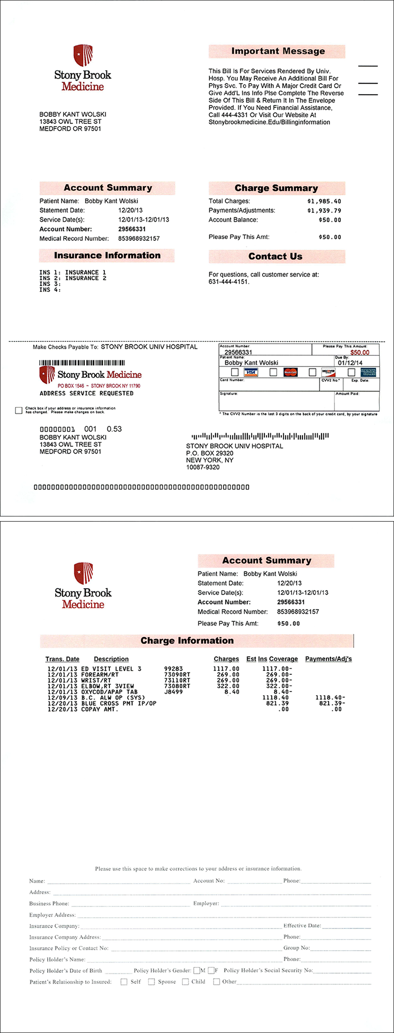 Hospital bill stony brook medicine if you have received one of these bills and have questions about it you can call 631 444 4151 during office hours monday friday 8 am 6 pm altavistaventures Gallery